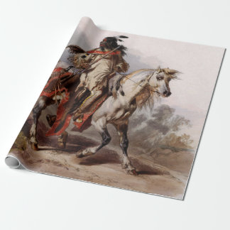 Blackfoot Indian On Arabian Horse being chased