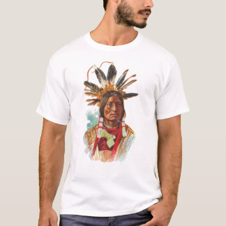 Blackfoot Sioux Chief: Many Horns T-Shirt
