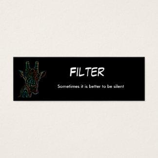 blackgiraffe, Filter, Sometimes it is better to... Mini Business Card