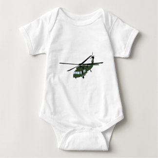 Blackhawk Helicopter Image Baby Bodysuit