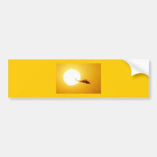 BLACKHAWK SUNSET CAR BUMPER STICKER