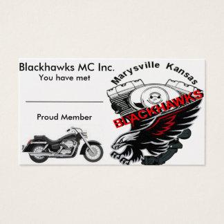 Blackhawks MC Business Card