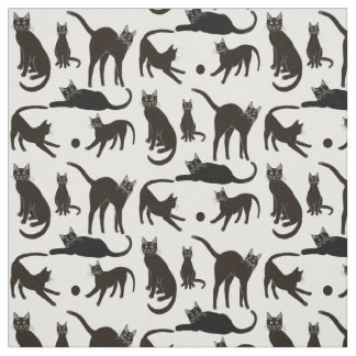 Blackie the Black Cat Fabric