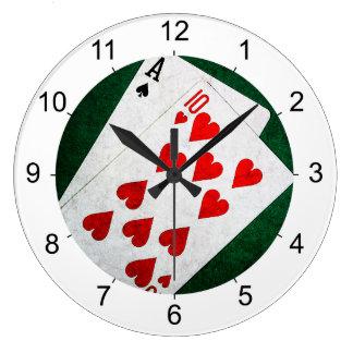 Blackjack 21 point - Ace, Ten Large Clock