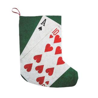 Blackjack 21 point - Ace, Ten Small Christmas Stocking