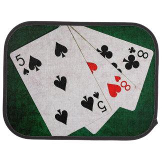 Blackjack 21 point - Eight, Eight, Five Car Mat
