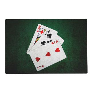 Blackjack 21 point - King, Eight, Three Laminated Place Mat