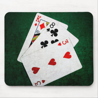 Blackjack 21 point - King, Eight, Three Mouse Pad