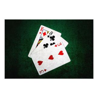 Blackjack 21 point - King, Eight, Three Photograph