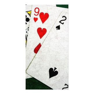 Blackjack 21 point - King, Nine, Two Customized Photo Card