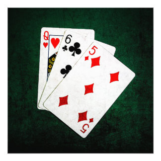 Blackjack 21 point - Queen, Six, Five Photo Print