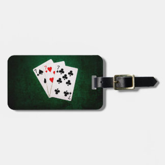 Blackjack 21 - Seven, Seven, Seven Luggage Tag