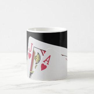 Blackjack Hand - Jack and Ace Coffee Mug