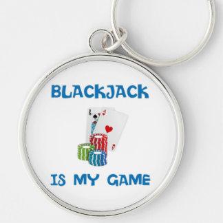 BLACKJACK IS MY GAME KEY RING