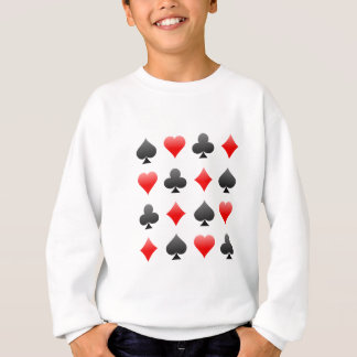 Blackjack / Poker Card Suits: Vector Art: Sweatshirt