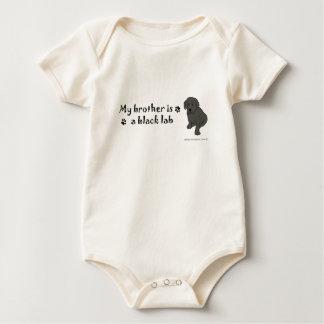 BlackLabPuppyBrother Baby Bodysuit