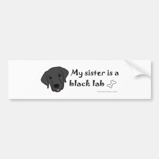 BlackLabSister Bumper Sticker
