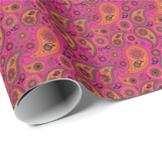 Blacklight Paisley Wrapping Paper