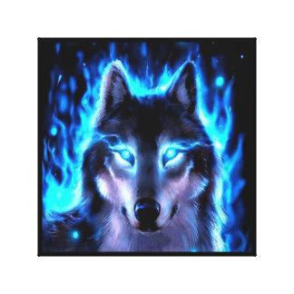 BLACKLIGHT WOLF CANVAS WALL DECORATION CANVAS PRINT