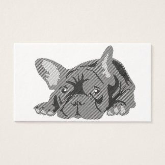 Blackline French Bulldog cards