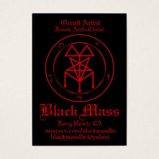 blackmasspent1, Occult Artist, Iconic Anti-Chri... Business Card
