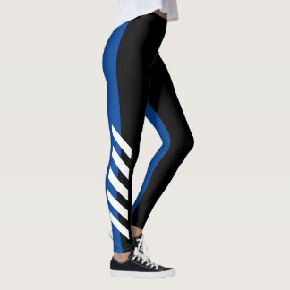 Black'n'Blue Stripe Leggings