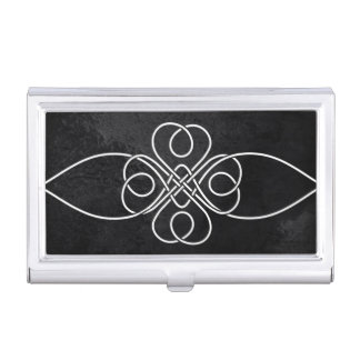 Blackness Series Clover Knot Business Card Holder