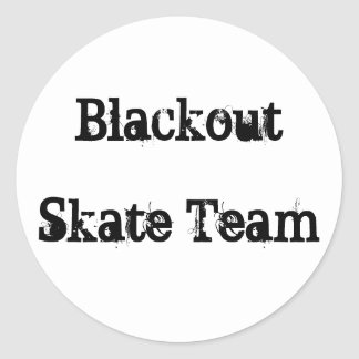 Blackout, Skate Team Round Sticker