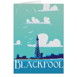 Blackpool, England vintage travel poster Card