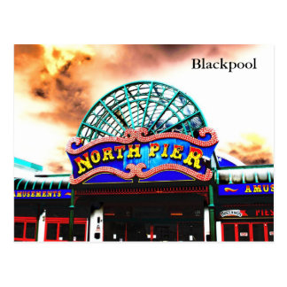 Blackpool North Pier Postcard