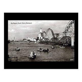 Blackpool, the Big Dipper Postcard