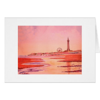 Blackpool Tower and Seafront. Card