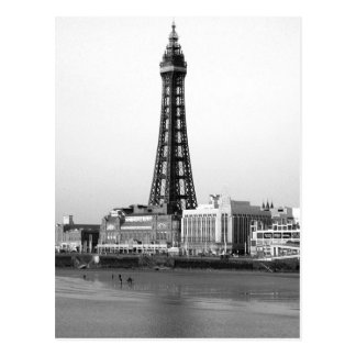 Blackpool Tower B/W Postcard