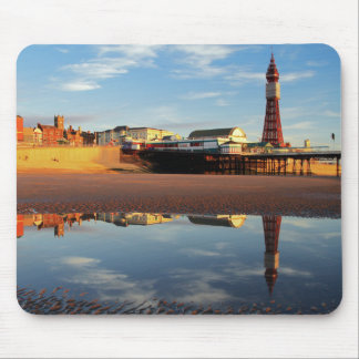 Blackpool Tower Reflection Mouse Pad