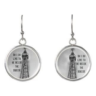 Blackpool tower seaside earrings