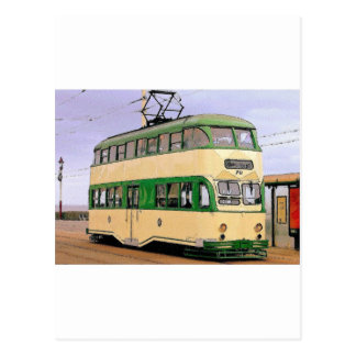 Blackpool Tram Postcard