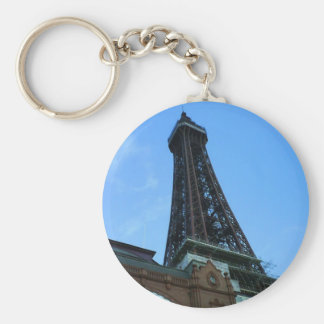 BlackpoolTower Basic Round Button Key Ring