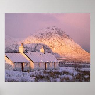 Blackrock Cottage, Glencoe, Highlands, Scotland 2 Poster