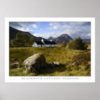 Blackrock Cottage, Scotland Poster