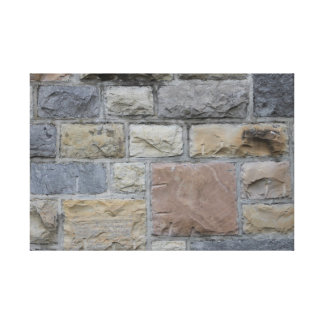Blacksburg Campus Limestone Design 1 Canvas Print