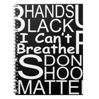 blackshirtwhiteonblack notebook