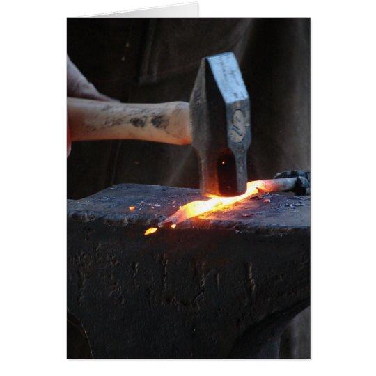 Blacksmith at Work 2 Card