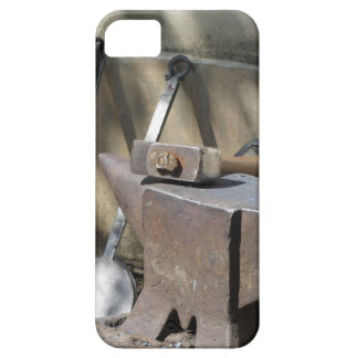 Blacksmith hammer resting on the anvil barely there iPhone 5 case