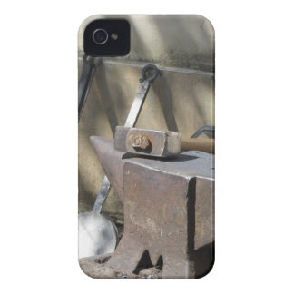 Blacksmith hammer resting on the anvil iPhone 4 Case-Mate case