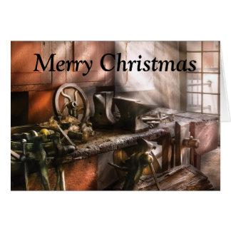 Blacksmith - In my Grandfather's Workshop - Curren Greeting Card