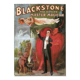 Blackstone, The World's Master Magician, 1934 13 Cm X 18 Cm Invitation Card