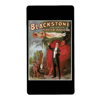 Blackstone, The World's Master Magician, 1934 Shipping Label