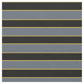 Blackstripe and gold pin stripe PNG on zazzle gray Fabric