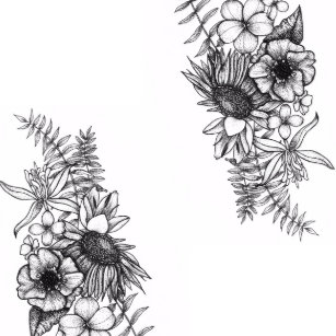 149135a5af2ba Blackwork Flowers Gifts on Zazzle AU