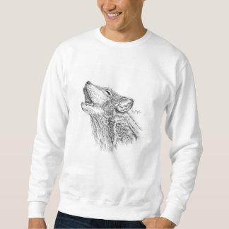 Blackwork Wolf Sweatshirt